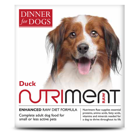 Nutriment Dinner For Dogs Duck Formula Raw Frozen Adult Dog Food Tray 200g