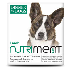 Nutriment Dinner For Dogs Lamb Formula Raw Frozen Adult Dog Food Tray 200g