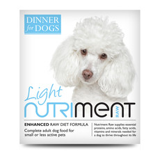 Nutriment Dinner For Dogs Light Formula Raw Frozen Adult Dog Food Tray 200g