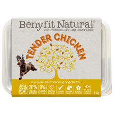 Benyfit Natural Tender Chicken Premium Raw Frozen Adult Dog Food 1kg