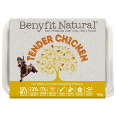 Benyfit Natural Tender Chicken Premium Raw Frozen Adult Dog Food 500g