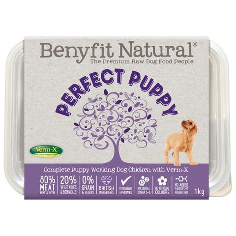 Benyfit Natural Perfect Puppy Chicken Premium Raw Frozen Puppy Food 1kg