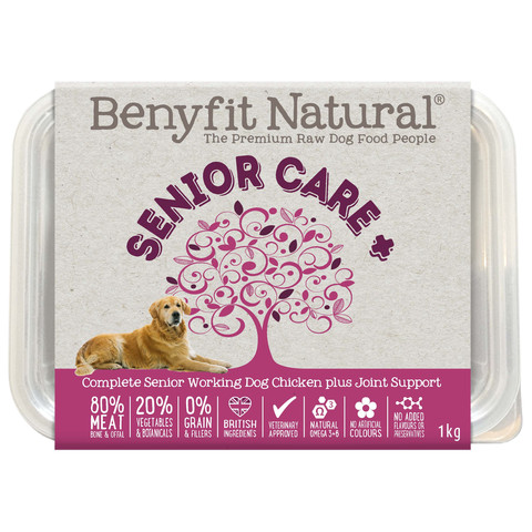 Benyfit Natural Senior Care Chicken Premium Raw Frozen Senior Dog Food 1kg