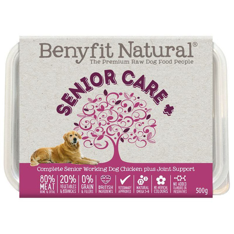 Benyfit Natural Senior Care Chicken Premium Raw Frozen Senior Dog Food 500g