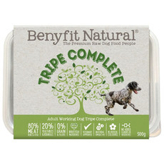 Benyfit Natural Tripe Complete Premium Raw Frozen Adult Dog Food 500g