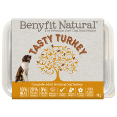 Benyfit Natural Tasty Turkey Premium Raw Frozen Adult Dog Food 1kg