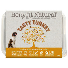 Benyfit Natural Tasty Turkey Premium Raw Frozen Adult Dog Food 500g