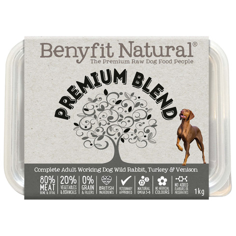 Benyfit Natural Premium Blend Premium Raw Frozen Adult Dog Food 1kg