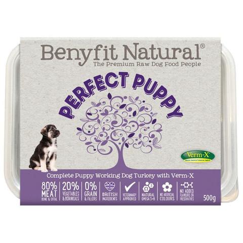 Benyfit Natural Perfect Puppy Turkey Premium Raw Frozen Puppy Food 500g