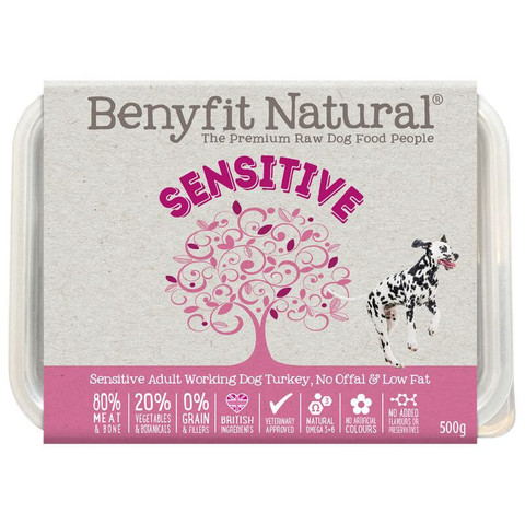 Benyfit Natural Sensitive Premium Raw Frozen Adult Dog Food 500g