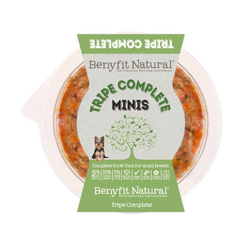 Benyfit Natural Minis Tripe Complete Premium Raw Frozen Small Breed Adult Dog Food 200g