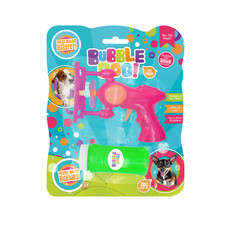 Bubble Dog! Mega Electric Bubble Gun With Peanut Butter Flavoured Solution