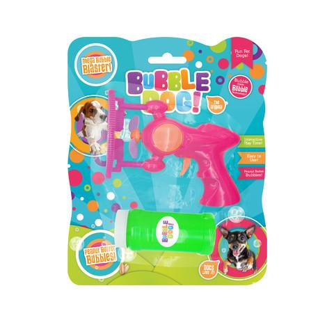Bubble Dog! Mega Electric Bubble Gun With Peanut Butter Flavoured Solution