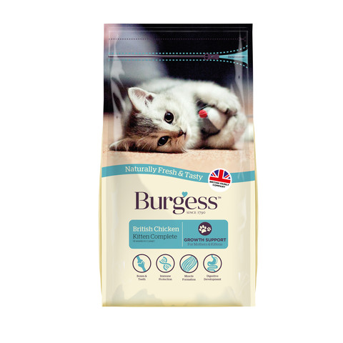 Burgess Kitten Food With Chicken 1.5kg