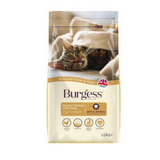 Burgess Adult Cat Food With Chicken And Duck 1.5kg
