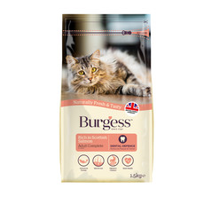 Burgess Adult Cat Food With Scottish Salmon 1.5kg