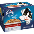 Felix As Good As It Looks Adult Cat Pouches Meaty Selection In Jelly 12x100g