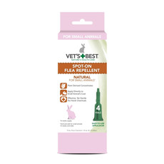 (d) Vets Best Natural Spot On Flea Repellent For Small Animals 4 Pipette