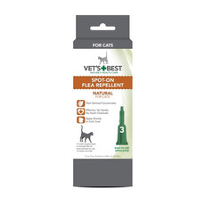 Vets Best Natural Spot On Flea Repellent For Cats & Kittens 3 Pipette