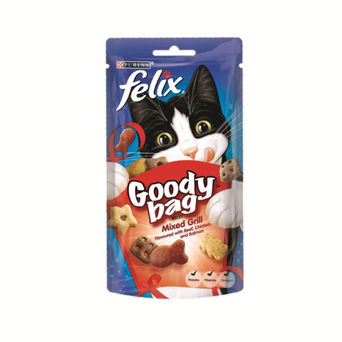 Felix Goody Bag Mixed Grill Cat Treats 60g