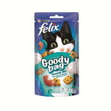 Felix Goody Bag Seaside Mix Cat Treats 60g To 8 X 60g