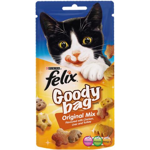 Felix Goody Bag Original Mix Cat Treats 60g To 8 X 60g