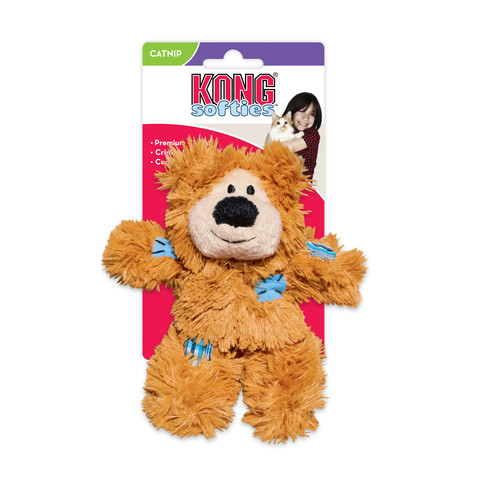 Kong Softies Patchwork Catnip Bear Cat Toy