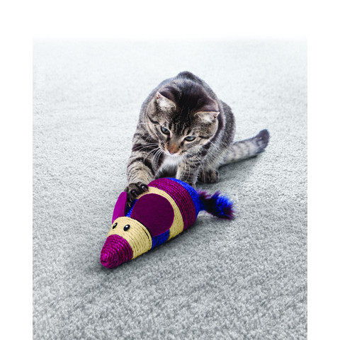 Kong Wrangler Oversized Scratch Mouse Catnip Cat Toy