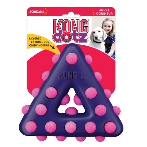 Kong Dotz Triangle Dog Toy Small