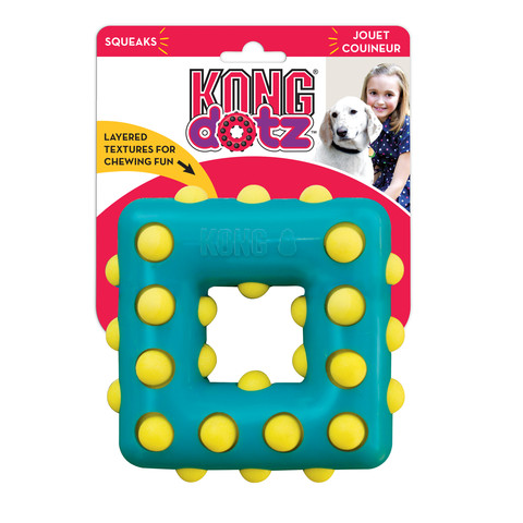 Kong Dotz Square Dog Toy Large