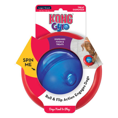 Kong Gyro Food And Treat Dispenser Dog Toy Small