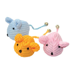 Happy Pet Knitted Fabric Mice Cat Toy  To 32 X