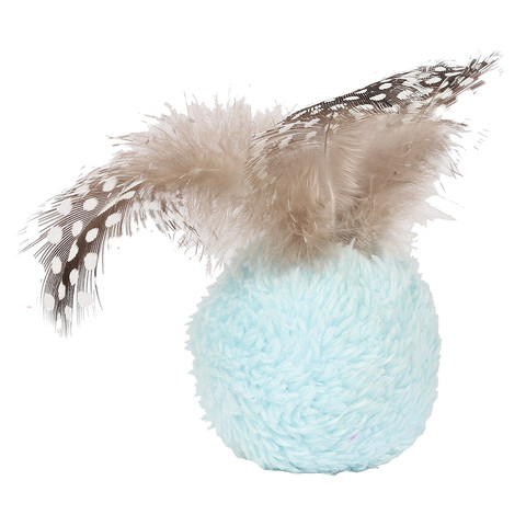 Happy Pet Dotties Feather Ball Cat Toy  To 24 X