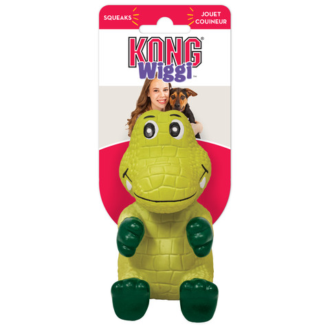 Kong Wiggi Alligator Latex Dog Toy Large