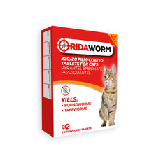 Ridaworm Worming Flavoured Tablets For Cats And Kittens 2 Pack