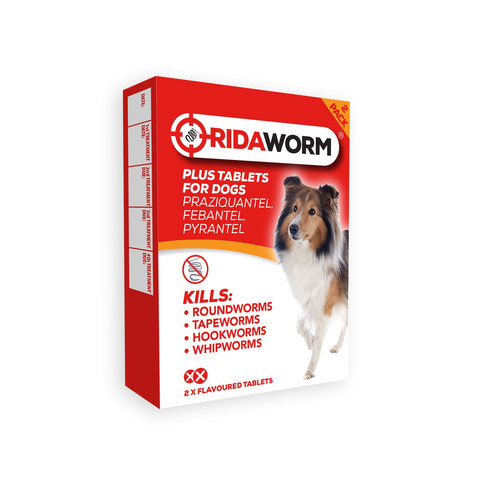 Ridaworm Worming Plus Flavoured Tablets For Dogs And Puppies 2 Pack