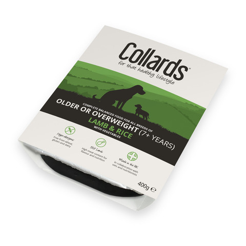 Collards Hypo-allergenic Older Or Overweight Dogs Wet Tray With Lamb And Rice 10 X 400g