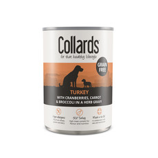 Collards Hypo-allergenic Grain Free Adult Dog Wet Can With Turkey 12 X 390g