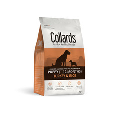 Collards Hypoallergenic Puppy Turkey And Rice Dog Food 2kg