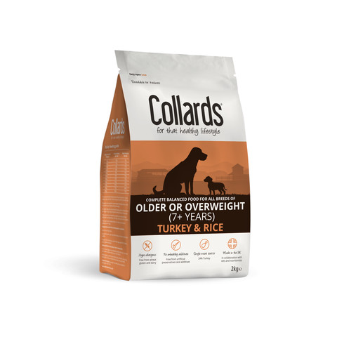 Collards Hypoallergenic Older Or Overweight Turkey And Rice Dog Food 2kg