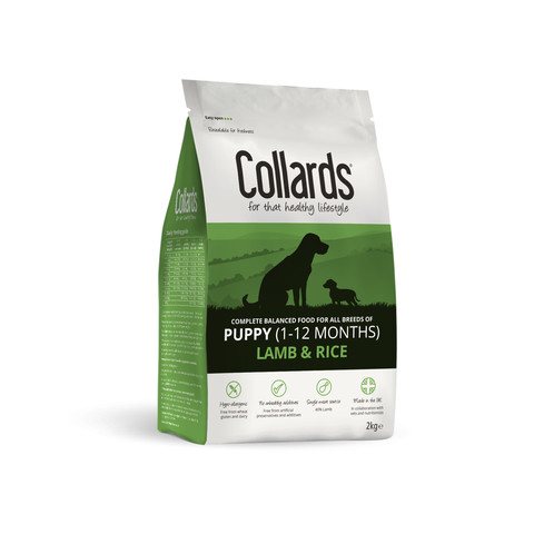 Collards Hypoallergenic Puppy Lamb And Rice Dog Food 2kg