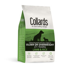 Collards Hypoallergenic Older Or Overweight Lamb And Rice Dog Food 10kg