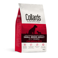 Collards Hypoallergenic Adult Small Breed Chicken And Rice Dog Food 10kg