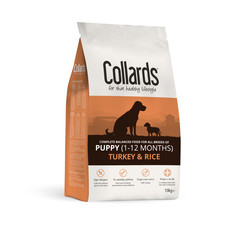 Collards Hypoallergenic Puppy Turkey And Rice Dog Food 10kg