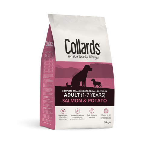 Collards Hypoallergenic Adult Salmon And Potato Dog Food 10kg