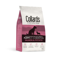 Collards Hypoallergenic Puppy Salmon And Potato Dog Food 10kg