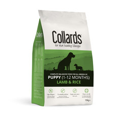Collards Hypoallergenic Puppy Lamb And Rice Dog Food 10kg