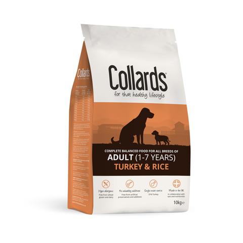 Collards Hypoallergenic Adult Turkey And Rice Dog Food 10kg