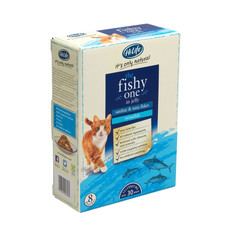Hilife It's Only Natural Grain Free Cat Pouches The Fishy One In Jelly 8x70g