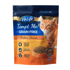 Hilife Tempt Me! Grain Free Chicken Dinner Semi Moist Cat Food 800g To 4 X 800g